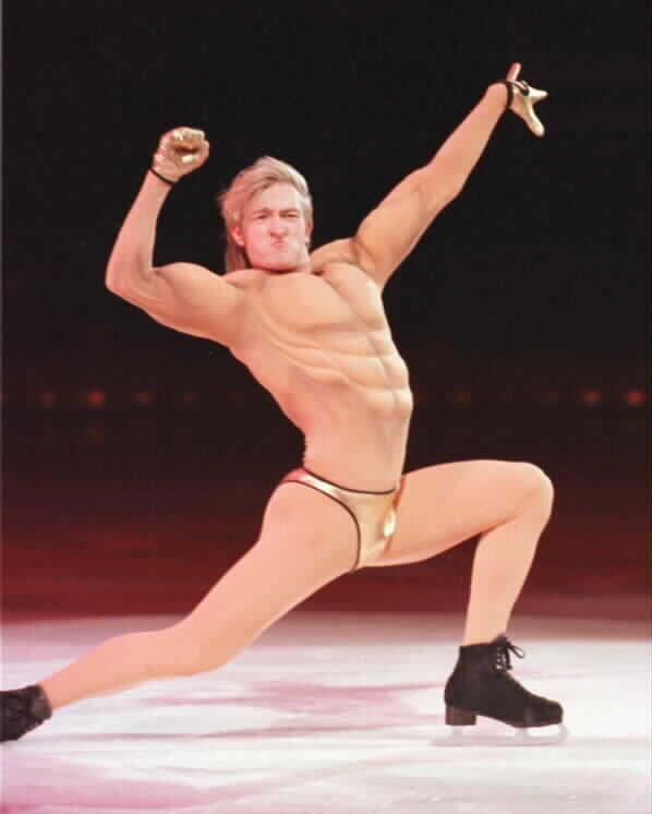 Naked ballerina legs